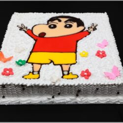 Shin Chan Drawing Cake